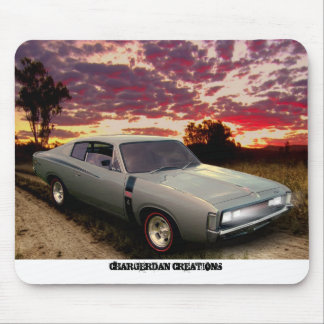 Valiant Charger E49 mercury silver mousepad