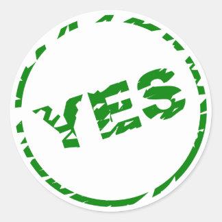Validation Icon - YES - Sticker