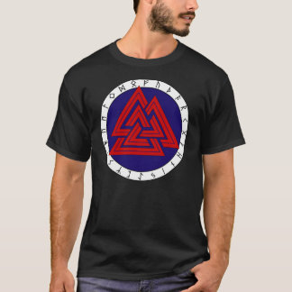 Valknot with Elder Futhark T-Shirt