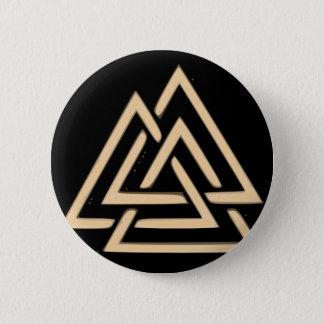 Valknut 6 Cm Round Badge