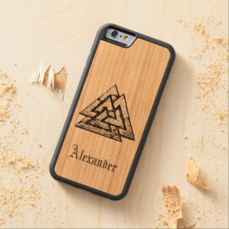 Valknut~ Carved Cherry iPhone 6 Bumper Case