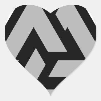 Valknut Heart Sticker