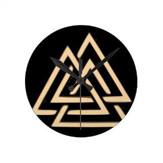 Valknut Round Clock