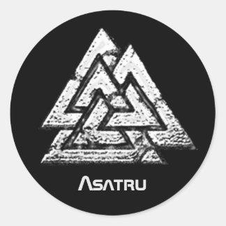 Valknut~ Round Sticker