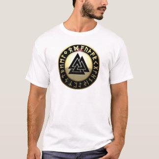 Valknut Rune Shield T-Shirt