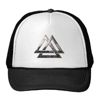 Valknut - Silver Mesh Hat