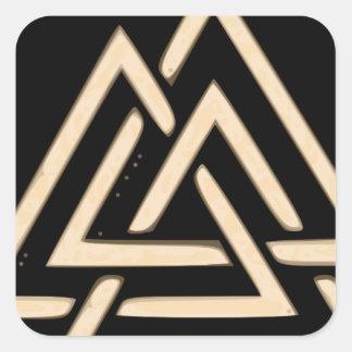 Valknut Square Sticker
