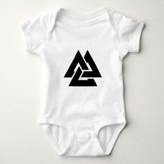 Valknut Symbol triquetra Baby Bodysuit
