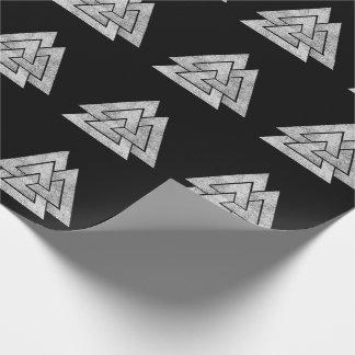 Valknut Viking Design Wrapping Paper