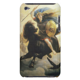 Valkyrie with Shield on Horseback iPod Case-Mate Case