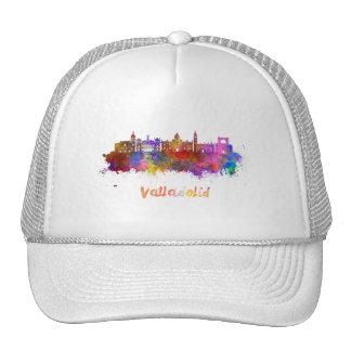 Valladolid skyline in watercolor cap