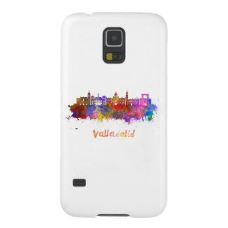 Valladolid skyline in watercolor galaxy s5 covers