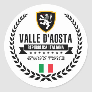 Valle d'Aosta Classic Round Sticker