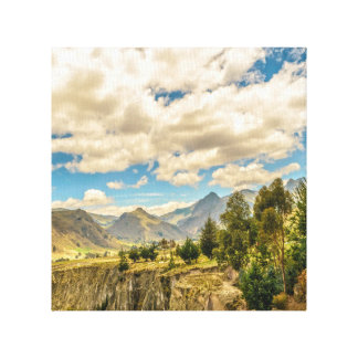 Valley and Andes Range Mountains Latacunga Ecuador Canvas Print