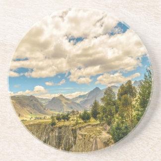 Valley and Andes Range Mountains Latacunga Ecuador Coaster