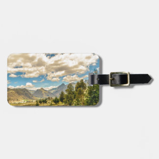 Valley and Andes Range Mountains Latacunga Ecuador Luggage Tag