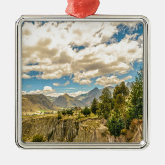 Valley and Andes Range Mountains Latacunga Ecuador Metal Ornament