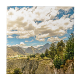 Valley and Andes Range Mountains Latacunga Ecuador Tile