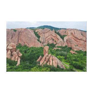 Valley and Rock Formations at Roxborough Canvas Print