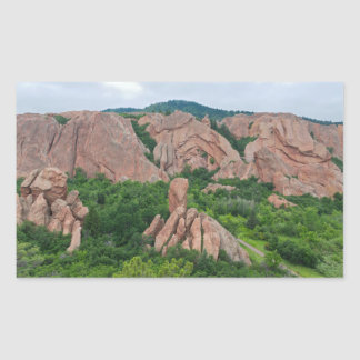 Valley and Rock Formations at Roxborough Rectangular Sticker