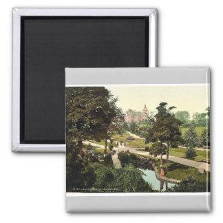 Valley Gardens, I., Harrogate, England rare Photoc Square Magnet