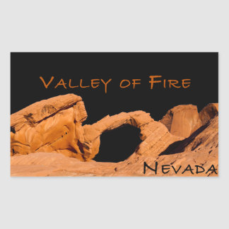 Valley of Fire Rectangular Sticker
