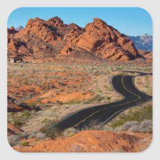 Valley of Fire Square Sticker