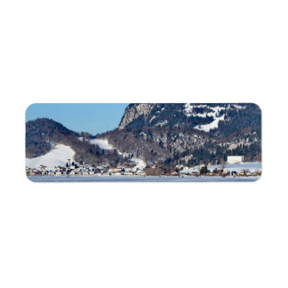 valley of joux and lake return address label