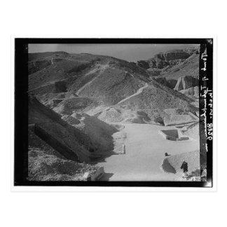 Valley of Royal Tombs, Showing Tutankhaman c. 1936 Postcard