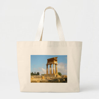 Valley of Temples Sicily Large Tote Bag
