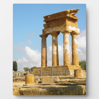 Valley of Temples Sicily Plaque