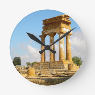Valley of Temples Sicily Round Clock