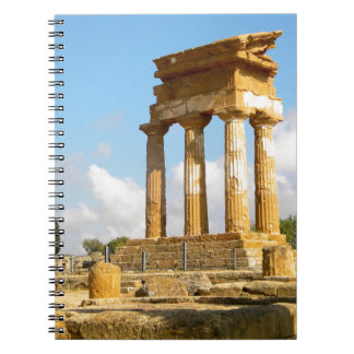 Valley of Temples Sicily Spiral Notebook