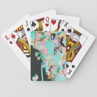 Valley Of The Dolls Abstract Art Playing Cards