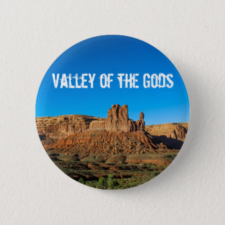 Valley of the Gods Blue Skies Butte 6 Cm Round Badge
