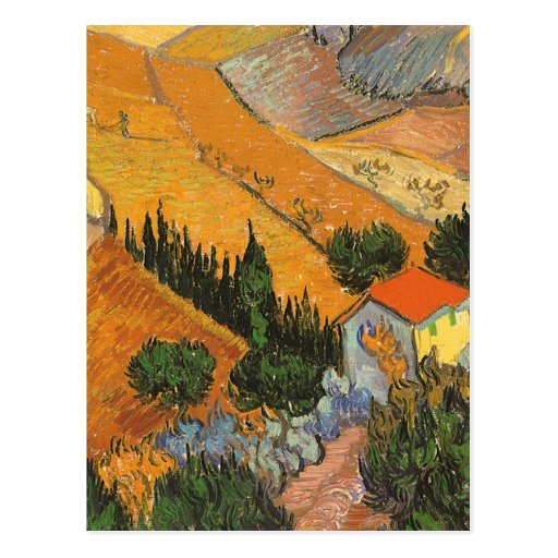 Valley with Ploughman by Vincent van Gogh Post Cards