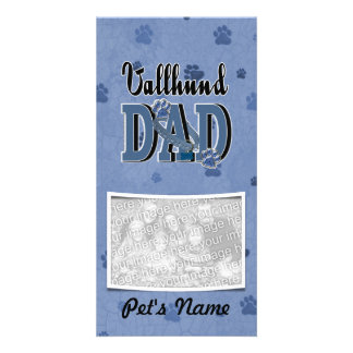 Vallhund DAD Custom Photo Card