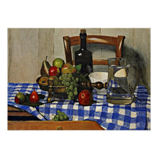 Vallotton: Still Life with Blue Checker Tablecloth Poster