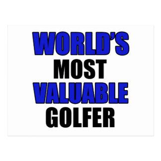 valuable golfer design postcard