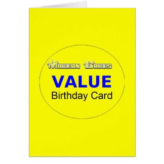 Value Birthday Card