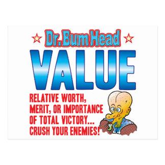 VALUE Dr Bum Head Postcard