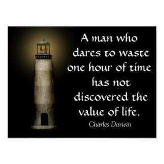 Value of Life -- Darwin Quote - Art Print