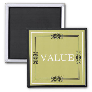 Value - One Word Quote For Motivation Magnet