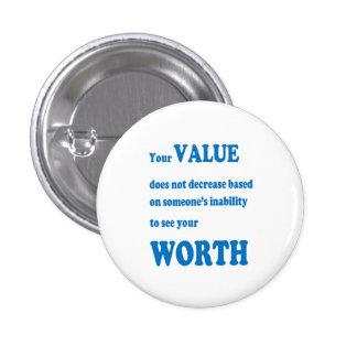 VALUE worth social wisdom spiritual practical GIFT 3 Cm Round Badge