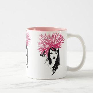 Valuegem Fusha Pink Flower Girl Mug