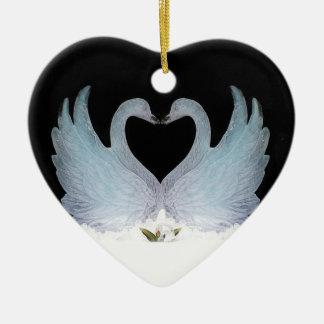 Valuegem Love Swans Hart  Ornament