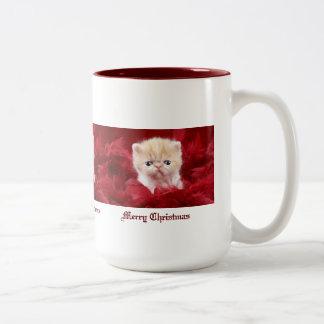 Valuegem Merry Christmas Kitten Mug