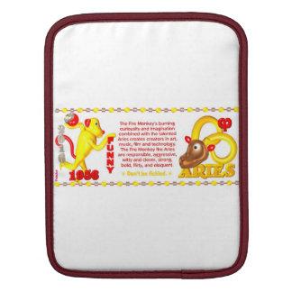 Valxart 1956 2016 2076 FireMonkey zodiac Aries Sleeves For iPads