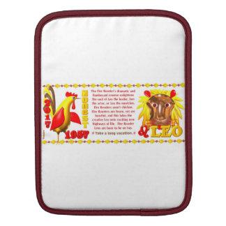 Valxart 1957 2017 2077 FireRooster zodiac Leo iPad Sleeve