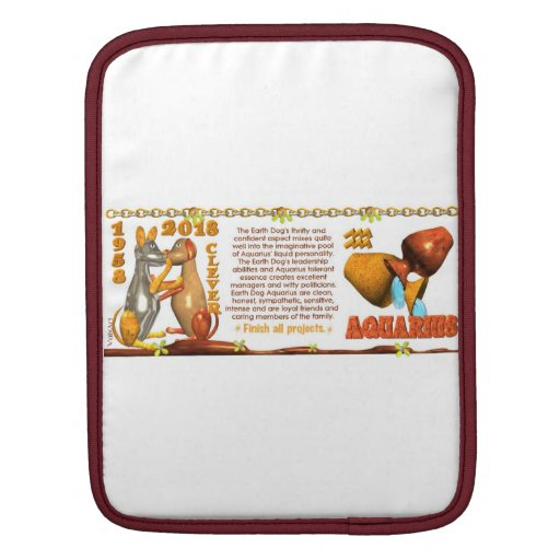 Valxart 1958 2018 2078 EarthDog zodiac Aquarius iPad Sleeve